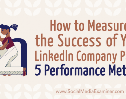 Social Media Marketing - How to Measure the Success of Your LinkedIn Company Page: 5 Performance Metrics