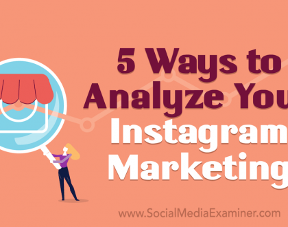 Social Media Marketing - 5 Ways to Analyze Your Instagram Marketing