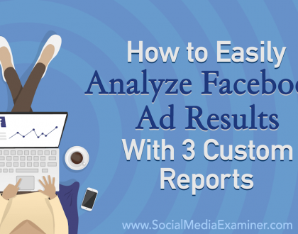 Social Media Marketing - How to Easily Analyze Facebook Ad Results With 3 Custom Reports