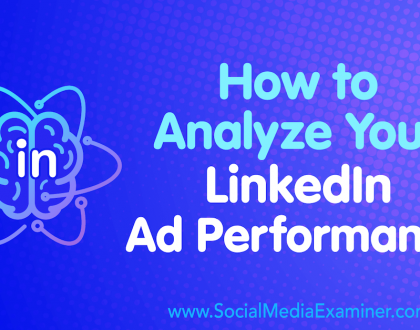 Social Media Marketing - How to Analyze Your LinkedIn Ad Performance