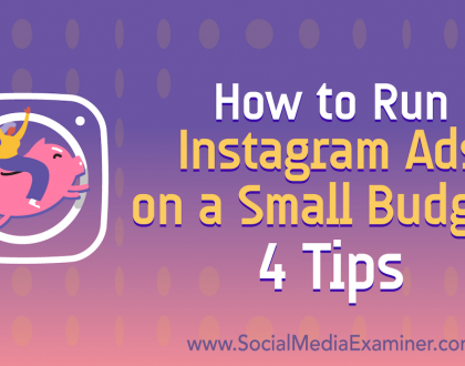 Social Media Marketing - How to Run Instagram Ads on a Small Budget: 4 Tips