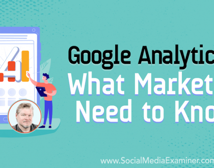 Social Media Marketing - Google Analytics 4: What Marketers Need to Know