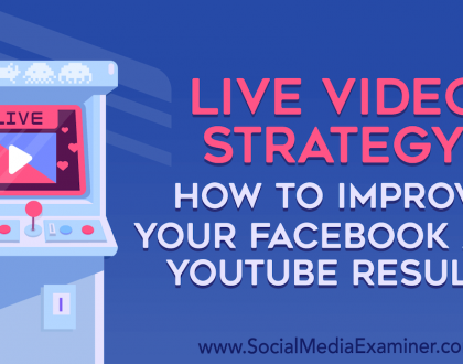 Social Media Marketing - Live Video Strategy: How to Improve Your Facebook and YouTube Results