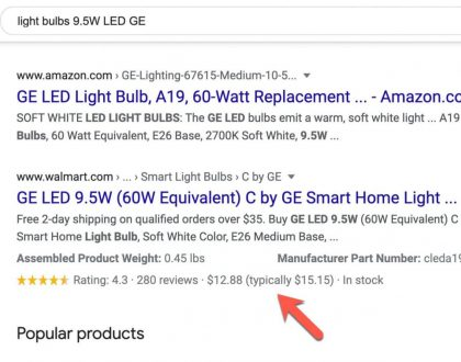 SEO - Google adds price drop appearance rich results to search results