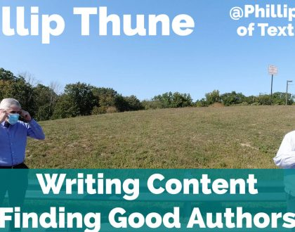 SEO - Video: Phillip Thune on finding good writers and writing good content