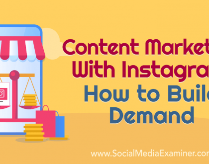 Social Media Marketing - Content Marketing With Instagram: How to Build Demand