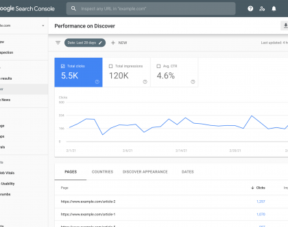 SEO - Google Search Console Discover performance report now includes all data