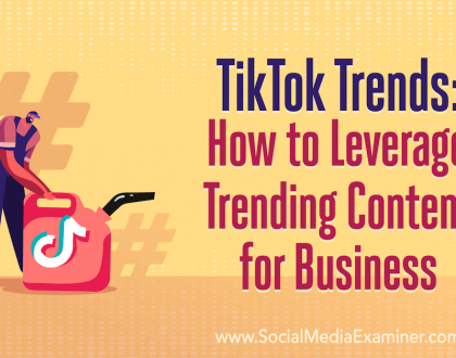 Social Media Marketing - TikTok Trends: How to Leverage Trending Content for Business
